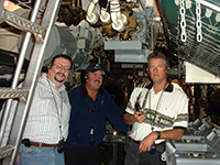 Ed Burroughs, Darrell 'Smitty' Smith, Jody Fugate touring the USS Pampanito